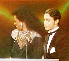 "michonnes: ""Prince and Diana Ross at the 1986 AMAs """