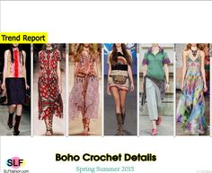 Bohemian Style Crochet Detail Fashion Trend for Spring Summer 2015. Miu Miu, Valentino, Etro, Anna Sui, Chanel, and Emilio Pucci #Spring2015 #SS15