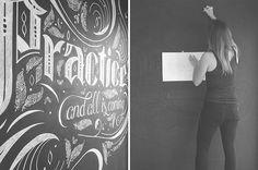 Yoga Studio Chalk Lettering on Behance