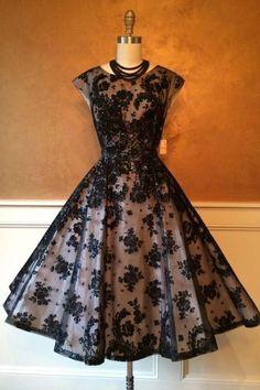 Black organza applique round neck homecoming dresses,formal dresses,H1436