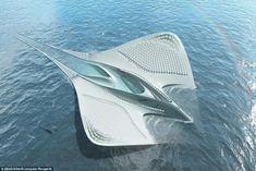 Avec ses 900 mètres de long et ses 500 mètres de large, cette ville flottante prévoit de transporter 7000 personnes.