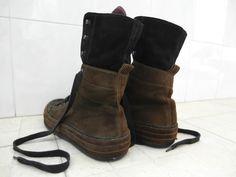 Ann Demeulemeester Archive - Ann Demeulemeester Men's Suede High Cut Sneakers A/W 2008 - StyleZeitgeist