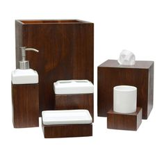 LaMont Home Tahoe Wooden Bath Accessory Collection