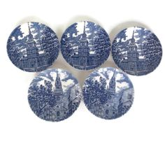 A personal favorite from my Etsy shop https://www.etsy.com/listing/261721694/vintage-coasters-liberty-blue-by