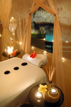 Love this spa deals, treatment rooms, massage room, luxury branding, Massage Room Decor, Massage Therapy Rooms, Spa Room Decor, Bedroom Decor, Spa Design, Home Design, Salon Design, Home Spa Room, Spa Rooms