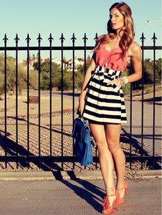 stripes + ruffles