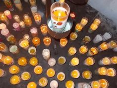 Candles in the church at Laduana