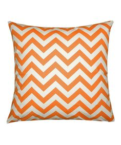 Take a look at this Orange & Ivory Chevron Pillow Cover by Scoope on #zulily today!