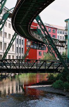 Suspension rail in Wuppertal - definitely the best way to get to school or work!