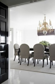 simply chic dining room