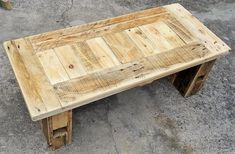pallets wooden table
