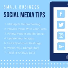 Social media is a great way to increase awareness of your small business, connect with your customers, and improve search engine rankings. Here are a few tips every small business should implement:  #socialmediamarketing #Smallbusiness #marketing #Socialmedia #Smallbusinesstips