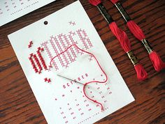 DIY 2014 Embroidery Calendar Kit. Fun!