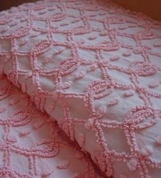 Pink and white ... Love chenille