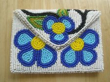 FOR BUSINESS CARDS! NWOT Native American indian beaded flower pouch purse