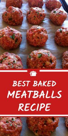 Best Baked Meatballs Recipe Best Baked Meatballs RecipeYou can find Meatball recipes and more on our website. Best Baked Meatball Recipe, Meatball Bake, Meatball Casserole, Simple Meatball Recipe, Best Italian Meatball Recipe, Beef Meatball Recipe, Meatball Subs, Beef Dishes, Pasta Dishes