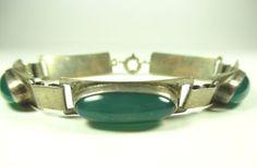 Georg-Kramer-Designer-Armband-835-Silber-Achat-70er-Modernist-b61-N4