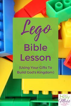 This Lego Bible Lesson teaches kids to Play Well Together, a sermon by Rev. Michael Borgstede for Mount Olive Lutheran Church anniversary. Kids Church Lessons, Bible Lessons For Kids, Sunday School Lessons, Bible Stories For Kids, Bible Study For Kids, Kids Bible, Lego Bible, Writing Prompts For Kids, Kids Writing