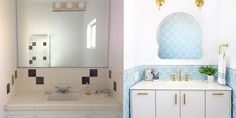 There's something mermaid-esque about Emily Henderson's redesigned bath — and we like it.