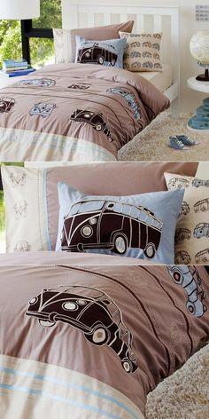 Cool Volkswagen 2017: Kombi quilt cover *drool* OMG I NEEEEEEEEEED THISS...  Progetti da provare