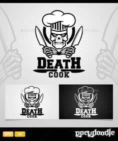 Death Cook Logo Design Template Vector #logotype Download it here: http://graphicriver.net/item/death-cook/14375749?s_rank=97?ref=nexion
