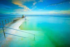 Merewether Ocean baths. Newcastle, NSW Australia. The largest ocean baths in the Southern hemisphere.