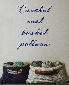 Free pattern! Easy crochet oval shaped basket DIY. Great for gifts or to store whatever you need to organize.