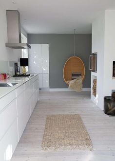 sweet home - New Kitchen Decoration Kitchen Interior, Kitchen Design, Kitchen Decor, Nice Kitchen, Estilo Interior, Sweet Home, Cuisines Design, Home And Deco, Grey Walls