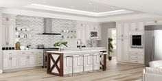 Antique White Cabinets, White Kitchen Cabinets, Kitchen And Bath, Kitchen Photos, Kitchen On A Budget, Lily Ann Cabinets, 3d Kitchen Design, Timeless Kitchen, Quality Cabinets