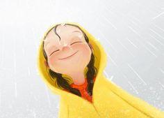 .Raindrops on my sunshiny face