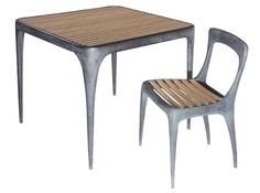 Henry Hall Designs - linear outdoor lounge and cafe seating, benches as well tables