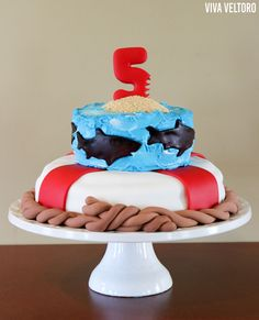 """Sharks are popular with little boys and throwing a """"killer"""" shark birthday party is easier than you think! You'll love these shark birthday party ideas! Diy Projects For Kids, Diy For Kids, 10th Birthday, Birthday Parties, Birthday Ideas, Party Themes, Party Ideas, Shark Cake, Dessert Cake Recipes"""
