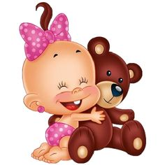 Images Are On A Transparent Background Cute Baby Holding Teddy Bear Cartoon Clip Art