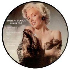 "Marilyn Monroe ""Runnin' Wild"" - 12"" vinyl LP picture disc, made in Denmark, 1985."