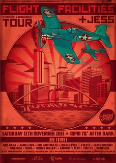 After Dark Social Club Weekly Gig Posters / BY: Clement de Bruin