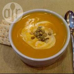 Spicy sweet potato and butternut squash soup