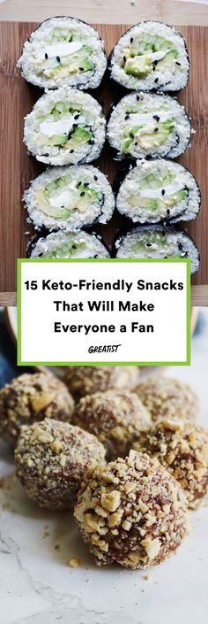 Butter slices and fat bombs included.  #greatist https://greatist.com/eat/keto-snacks
