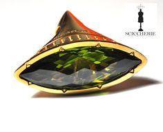 """Collezione """"Tropezienne"""". Anello in bronzo e pietra idrotermale Peridoto. #rings #rebeccagioielli"""