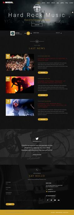 Muziq is beautifully #design perfect #WordPress theme for music #bands, singers and artist website with 4 stunning homepage layouts download now➯ https://themeforest.net/item/muziq-music-band-musician-wordpress-theme/16339408?ref=Datasata