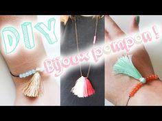 DIY #8 - Mon bracelet & collier pompons pas cher ! - YouTube