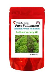 Pure Pollination 8 Lettuce Variety Seed Pack Heirloom Garden Open Pollinated Non-GMO >>> Quickly view this special  product, click the image : home diy garden