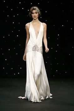High fashion roaring 20's evening gown