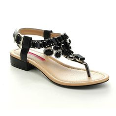 C Label Cabana-11 Womens Rhinestone T-Strap Slingback Flat Summer Sandals -- More info could be found at the image url.