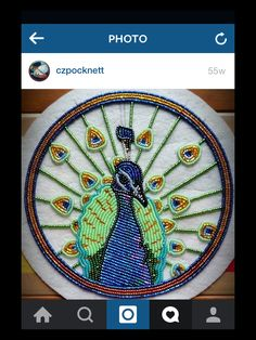 Luv this peacock #bead #powwowbling #ndn #beading