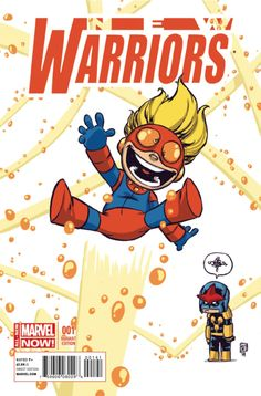 New Warriors #1 variant by Skottie Young