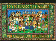 'El fuego y la palabra', Beatriz Aurora / EZLN, pintura, arte zapatista