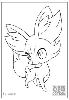 Leafeon Coloring page Free Printable