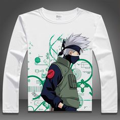 8eb48ce9b894 Top Quality Naruto T Shirt Man/Women Long Sleeve Casual Anime T-shirts  Uzumaki Naruto Hatake Kakashi T shirts Tees YD-011