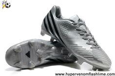 Cheap Discount Bright Silvery-Grey-Black Adidas Predator LZ TRX FG Shoes Store