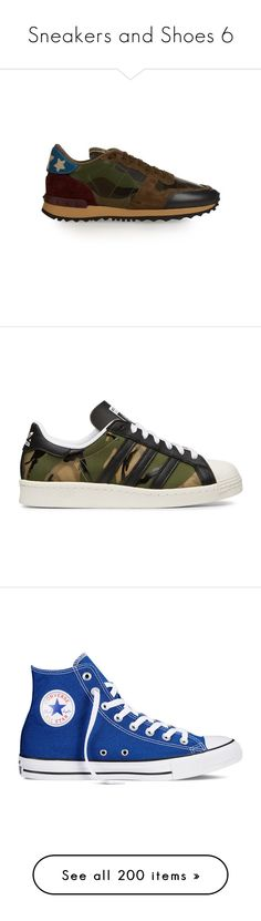 """Sneakers and Shoes 6"" by xx-black-blade-xx ❤ liked on Polyvore featuring shoes, sneakers, green multi, star sneakers, camouflage sneakers, native american shoes, valentino sneakers, camo shoes, green and green shoes"